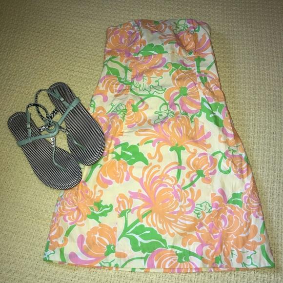 Lily Pulitzer Yellow/Floral Sleeveless Dress Sz 0